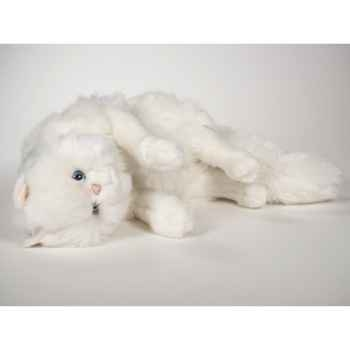 Peluche chat persan blanc qui joue 50 cm Piutre -310