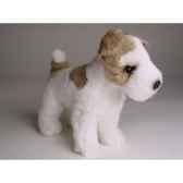 peluche miniature fox terrier 24 cm piutre 4285