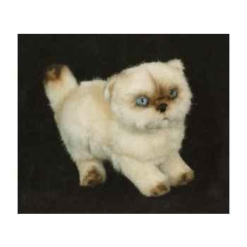 Peluche debout chat couleur point ou himalaya 20 cm Piutre -2434