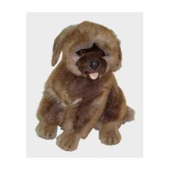 Peluche assise chien leonberg 45 cm Piutre -3363