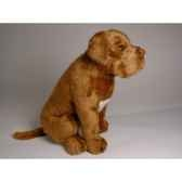 peluche assise dogue de bordeaux 45 cm piutre 1283