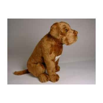 Peluche assise dogue de bordeaux 45 cm Piutre -1283