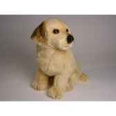 peluche assise golden retriever 40 cm piutre 2204