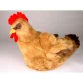 peluche poule marron 40 cm piutre 701