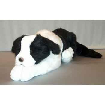 Peluche chien couché 75 cm Piutre -G192