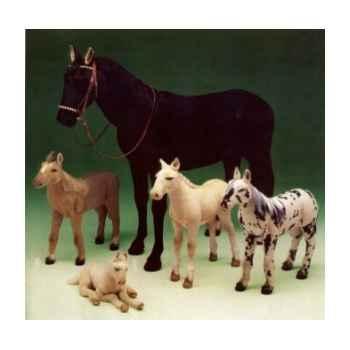 Peluche debout cheval marron chestnut 200 cm Piutre -2691