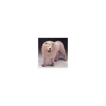 Peluche debout lion blanc 180 cm Piutre -2535