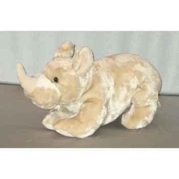 Peluche Rhinocéros couché 50 cm Piutre -G121