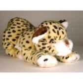 peluche allongee guepard 35 cm piutre 2592