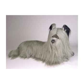 Peluche allongée skye-terrier 60 cm Piutre -1269
