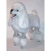 peluche debout poodle blanc 80 cm piutre 256