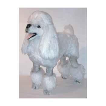 Peluche debout poodle blanc 80 cm Piutre -256