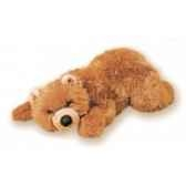 peluche allongee ours grizzly 50 cm piutre 2105