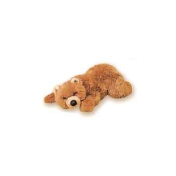 Peluche allongée ours grizzly 50 cm Piutre -2105