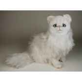 peluche assise chat persan chinchilla blanc 50 cm piutre 2300
