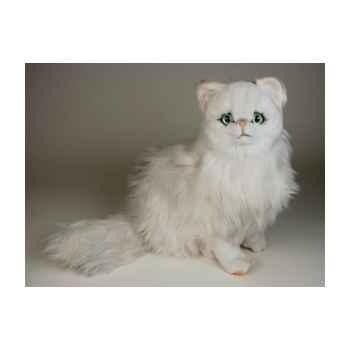 Peluche assise chat persan chinchilla blanc 50 cm Piutre -2300