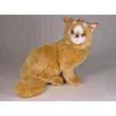 peluche assise chat turc de van marron 35 cm piutre 328