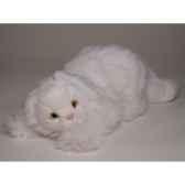 peluche allongee chat persan blanc 35 cm piutre 315