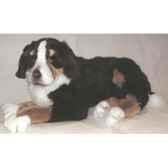 peluche allongee chien de montagne bernois 100 cm piutre 1262