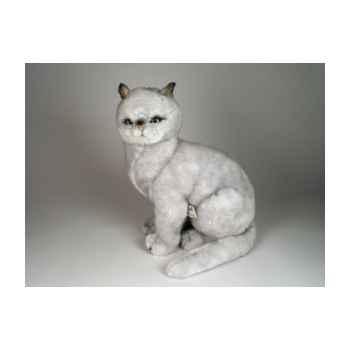 Peluche assise chat british poils courts 45 cm Piutre -2460