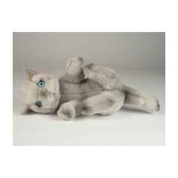 Peluche chat beige qui joue 20 cm Piutre -2445