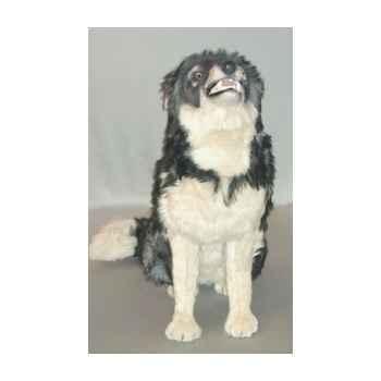 Peluche assise loup caucasien 90 cm Piutre -1241