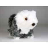 peluche debout mascotte old english sheepdog 24 cm piutre 4283