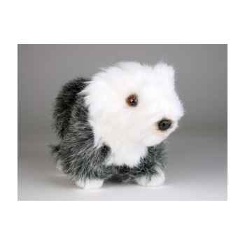 Peluche debout mascotte old english sheepdog 24 cm Piutre -4283