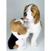 peluche assise beagle avec chiot 5030 cm piutre 2241