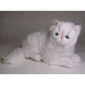 peluche allongee chat persan chinchilla blanc 50 cm piutre 2301