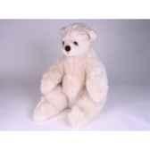 peluche assise ours polaire 50 cm piutre 2162