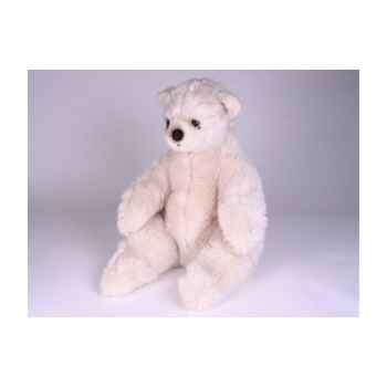Peluche assise ours polaire 50 cm Piutre -2162