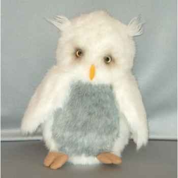 Peluche Hibou blanc 36 cm Piutre -G265