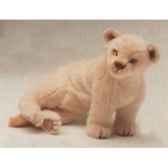 peluche assise lion blanc 55 cm piutre 2540