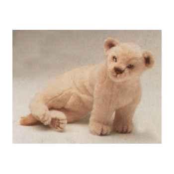 Peluche assise lion blanc 55 cm Piutre -2540