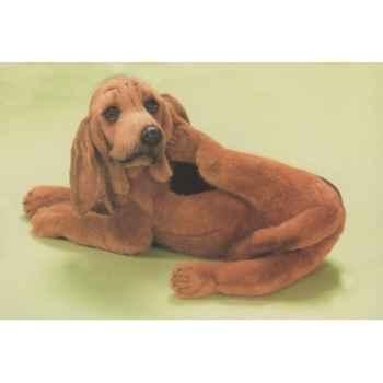 Peluche allongée chien de Saint Hubert 50 cm Piutre -2268