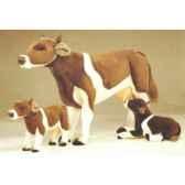 peluche debout vache marron et blanche 130 cm piutre 2667