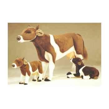 Peluche debout vache marron et blanche 130 cm Piutre -2667