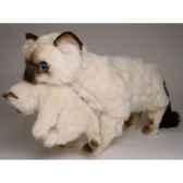 peluche debout chat siamois 60 cm avec chaton piutre 2394