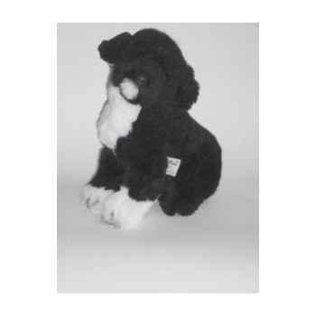 Peluche assise chien d'eau Portugais 40 cm Piutre -4226