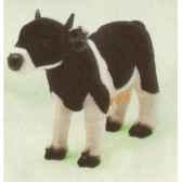 peluche debout vache noire et blanche 60 cm piutre 2688