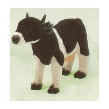 Peluche debout vache noire et blanche 60 cm Piutre -2688