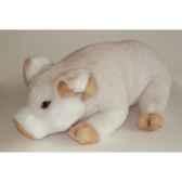 peluche allongee porcelet blanc 45 cm piutre 2420