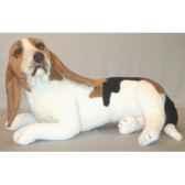 peluche assise basset hound 60 cm piutre 3285