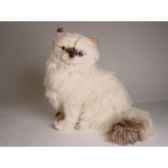 peluche assise chat colour point himalayan 40 cm piutre 2431
