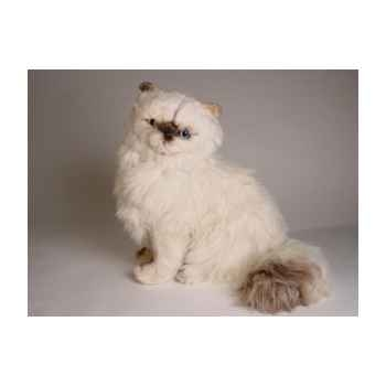 Peluche assise chat colour point himalayan 40 cm Piutre -2431