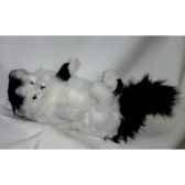 peluche chat turc de van noir et blanc qui joue 45 cm piutre 330