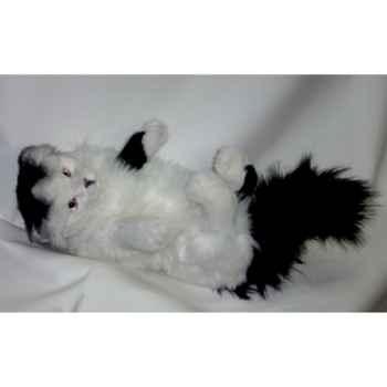 Peluche chat Turc de Van noir et blanc qui joue 45 cm Piutre -330