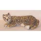 peluche allongee guepard 55 cm piutre 2582