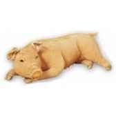peluche allongee cochon 130 cm piutre 2417